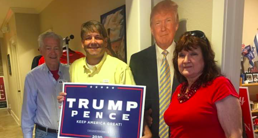 Sue Gafford Piner (right) is pictured at Comal County Republican Party headquarters. - FACEBOOK / SUE GAFFORD PINER