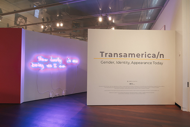 """The entrance to the McNay exhibition """"Transamerica/n: Gender, Identity, Appearance Today"""" - COURTESY OF RENÉ PAUL BARILLEAUX"""
