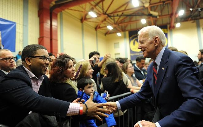 Joe Biden presses the flesh, pre-COVID-19. - WIKIMEDIA COMMONS / UNITED STATE SENATE - THE OFFICE OF CHRIS MURPHY