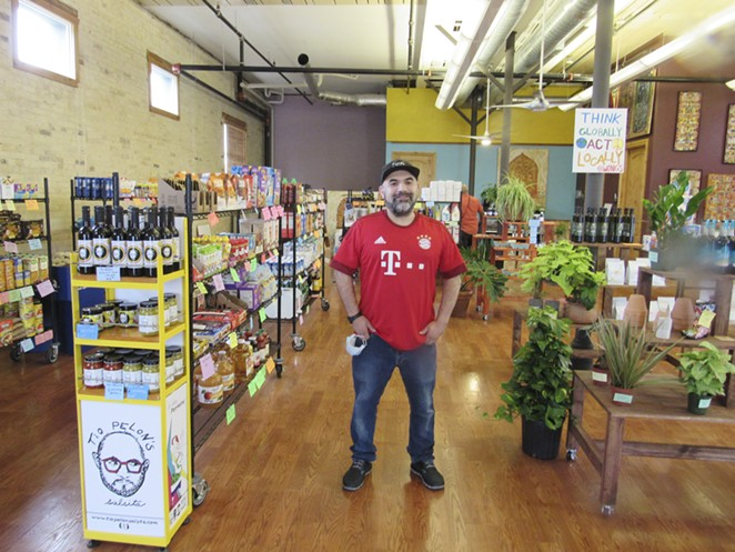 Raul Martinez-Salinas shifted gears with his vegan-friendly shop to adapt to his neighbors' needs. - LEA THOMPSON