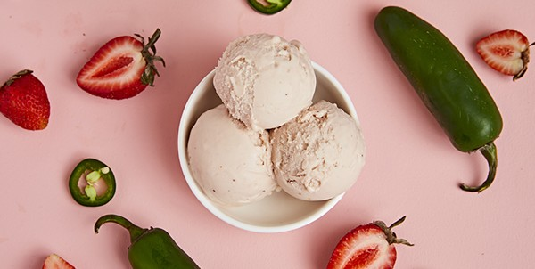 Lick's new Strawberry Jalapeño ice cream is among new seasonal offerings from the sweet shop. - COURTESY LICK HONEST ICE CREAMS