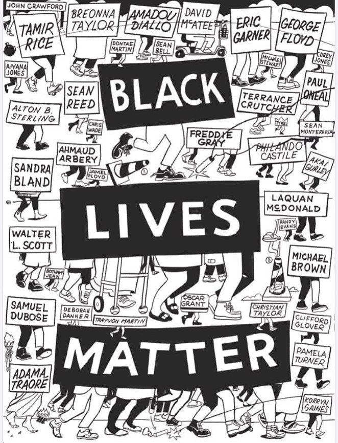 La Printería created and distributed 1,600 free prints of New York artist Stephen Powers' Black Lives Matter illustration. - COURTESY OF STEVEN POWERS