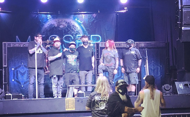 Dallas rock group MESSER performed Saturday at Fort Worth music venue The Rail Club Live. - INSTAGRAM / PAMPEREDPOETS