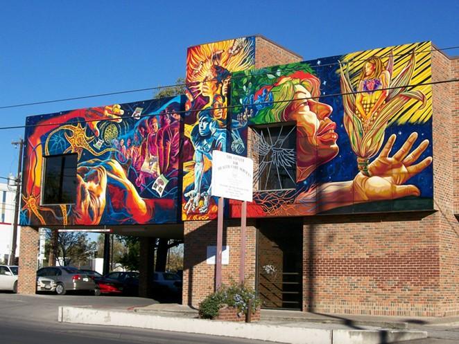 "Adriana M. Garcia served as lead artist on the San Anto Cultural Arts mural ""Brighter Days."" - COURTESY OF ADRIANA M. GARCIA"