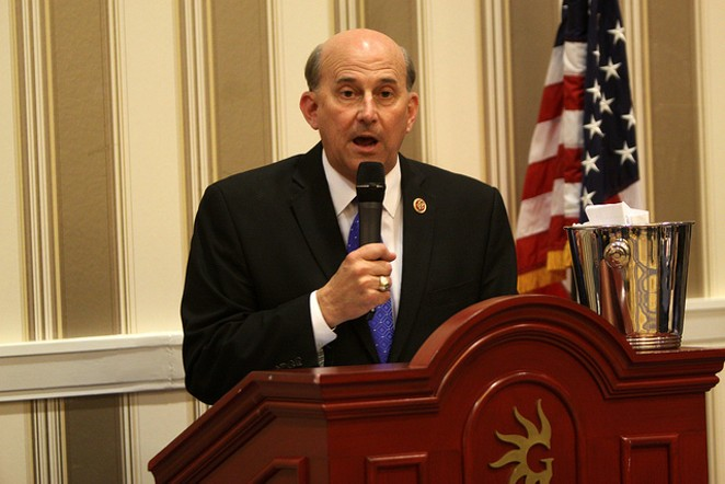 Rep. Louie Gohmert has been doing some deep thinking about masks during the pandemic. - VIA FLICKR CREATIVE COMMONS/GAGE SKIDMORE