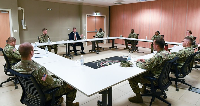 Secretary of the Army Ryan McCarthy met with Fort Hood soldiers to discuss sexual assault, discrimination, and health & welfare within the ranks of the Army. - INSTAGRAM / SECRETARY_OF_THE_ARMY