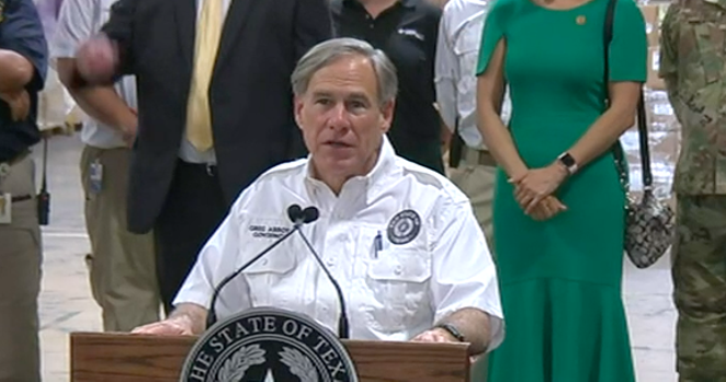 Texas Gov. Greg Abbott addresses school reopening at a news conference in San Antonio. - SCREEN CAPTURE / KSAT 12