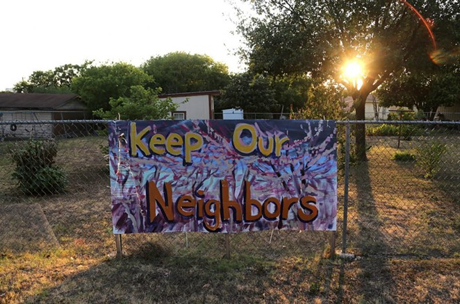 Signs like this one on Edgar Avenue can be seen throughout the far east end of Government Hill. - BEN OLIVO / SAN ANTONIO HERON