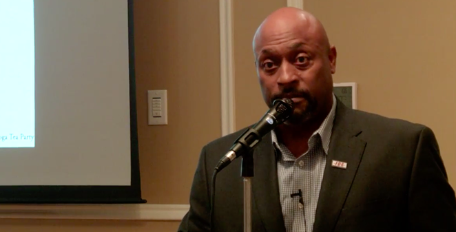 KCarl Smith speaks to a conservative group in 2017. - YOUTUBE / TIN SHIP PRODUCTIONS