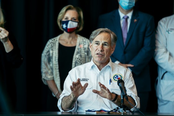 Gov. Greg Abbott speaks at a recent press event. - COURTESY PHOTO / GOVERNOR'S OFFICE