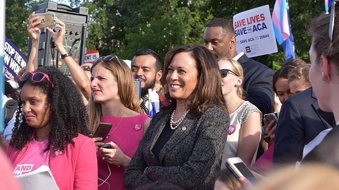 Sen. Kamala Harris attends a health care rally in Washington. - WIKIMEDIA COMMONS / U.S. SENATE