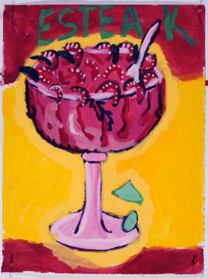 Victoria Suescum, Esteak, 2014. Matte acrylic on paper. - COURTESY OF MCNAY ART MUSEUM