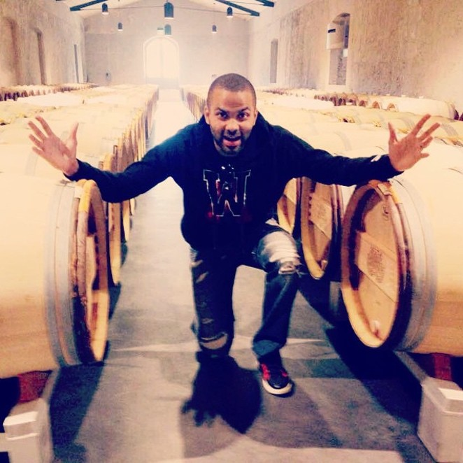 Tony Parker doesn't know what to do with all this wine. - @_TONYPARKER09/INSTAGRAM