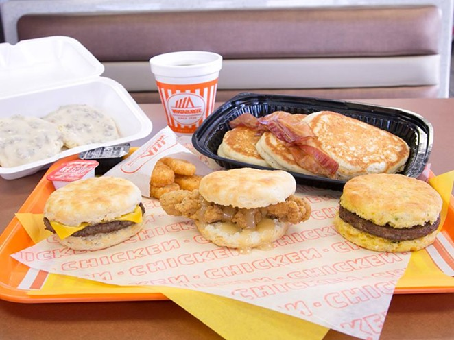A look at what an eggless breakfast will look like from 11 p.m. to 4:59 a.m. at Whataburger. - WHATABURGER/FACEBOOK