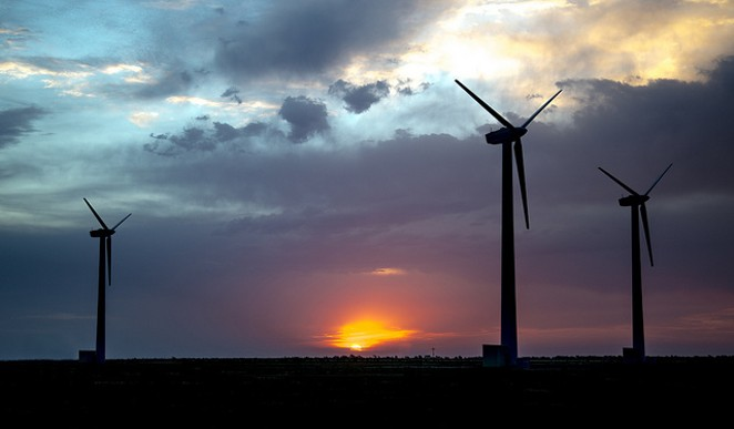 Texas is the nation's leader in wind power, but a new plan calls for even further investment. - VIA FLICKR USER SANDIA LABS