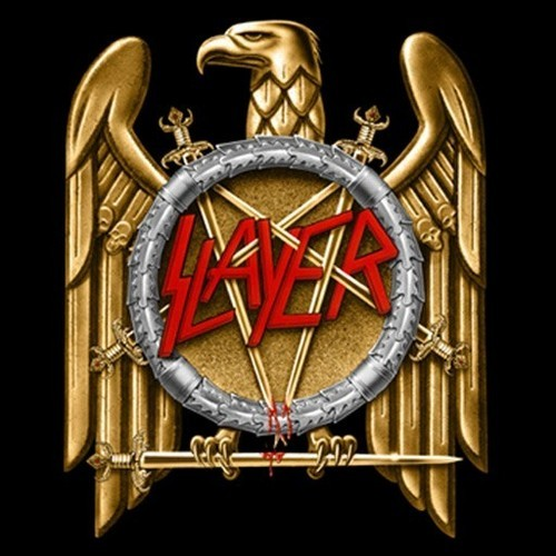The iconic Slayer logo, which you can now expect July 31 in San Antonio