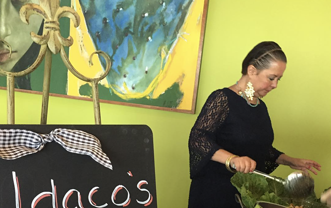Blanca Aldaco whips up authentic Mexican fare at a charity evening in 2018. - INSTAGRAM / DYACAMPOS