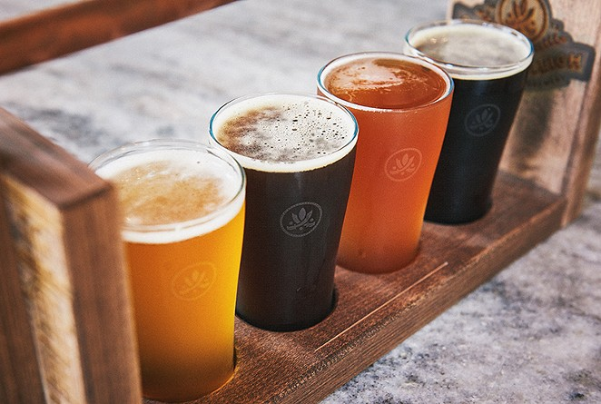 Pride of the Pearl: The list of homemade brews on tap evolves daily at Southerleigh. - COURTESY