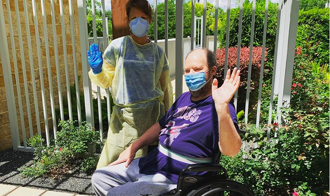 Musician Christopher Cross posted this photo in late May during his recovery from COVID-19 and Guillain-Barre Syndrome. - INSTAGRAM / @ITSMRCROSS