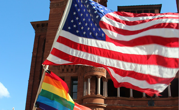 A rally was held Friday evening to celebrate the U.S. Supreme Court's marriage equality ruling. - GABRIELA MATA
