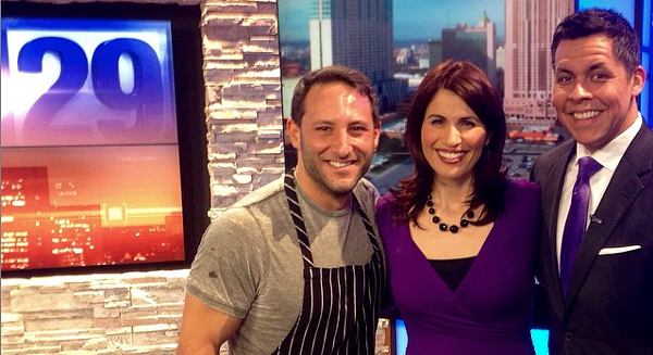 Chef David Gilbert (far left) with the Fox29 crew. - @BEYONDTHEKITCHEN/INSTAGRAM