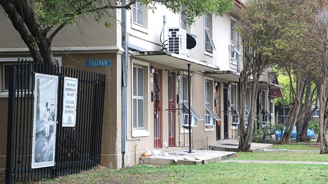 The Alazan-Apache Courts is San Antonio's largest and oldest public housing development. - BEN OLIVO