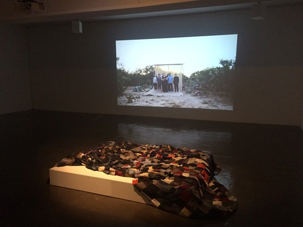 """AN INSTALLATION VIEW OF FATMA BUCAK'S EXHIBITION """"OVER A LINE, DARKLY"""""""