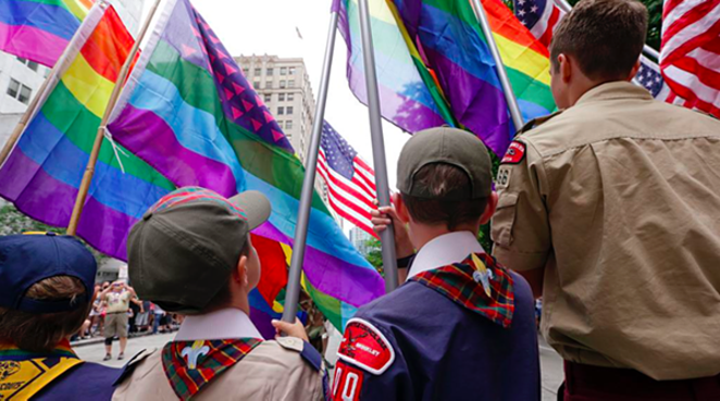The Boy Scouts of America will now allow gay adult leaders. - VIA TWITTER USER @MASHABLE