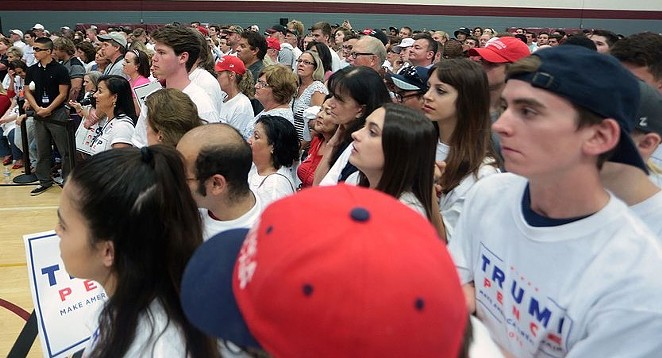 Trump supporters gather at a rally. - WIKIMEDIA COMMONS / GAGE SKIDMORE