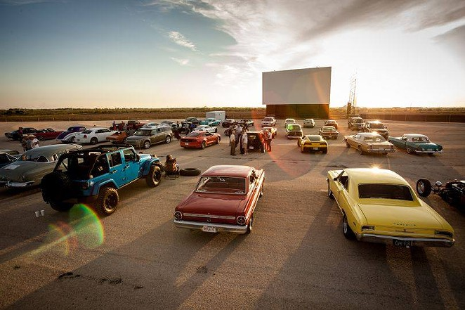 New Braunfels' Stars & Stripes Drive-In's owner said he's not been contacted by the Trump campaign. - COURTESY OF STARS AND STRIPES DRIVE-IN THEATRE