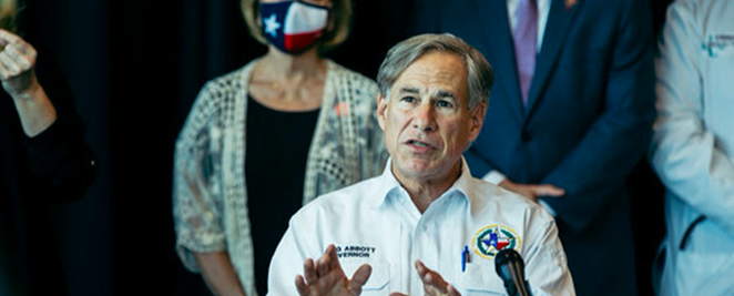 Texas Gov. Greg Abbott speaks during a recent press event. - COURTESY PHOTO / OFFICE OF THE GOVERNOR
