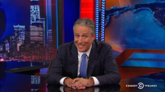 """Jon Stewart said goodbye by explaining bullshit one last time, leaving us with, """"If you smell something, say something."""" - COMEDY CENTRAL SCREENGRAB"""