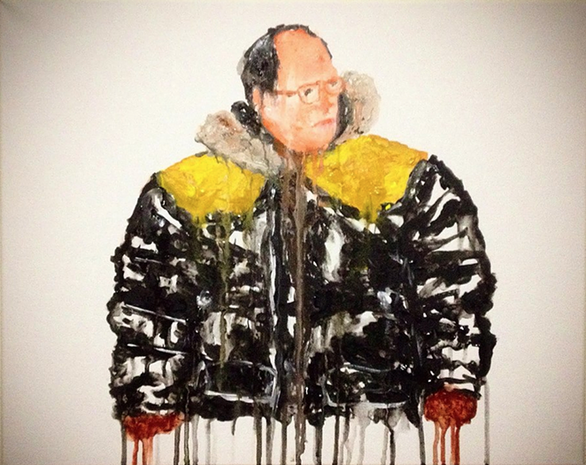 """george costanza (seinfeld),"" acrylic on canvas - DAPHID"