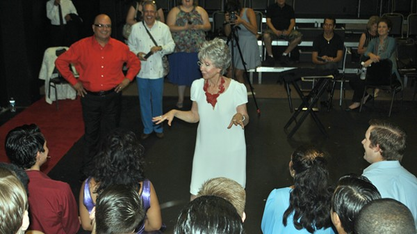 Renowned actress Rita Moreno was at SA's Woodlawn Theater yesterday to talk a little West Side Story. - KIKO MARTINEZ