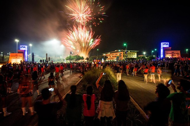 UTSA kicked off the fall semester with a midnight fireworks show. - UTSA STUDENT AFFAIRS/TWITTER