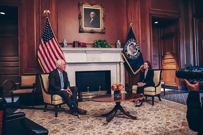Cornyn meets with U.S. Supreme Court nominee Amy Coney Barrett. He said the Senate should confirm her before the year is over. - COURTESY OF SEN. JOHN CORNYN