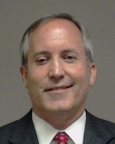 Mug shot of Texas Attorney General Ken Paxton. - VIA COLIN COUNTY