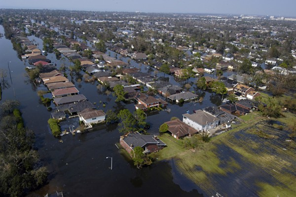 On August 29, 2005, Hurricane Katrina, a Catagory 5 storm, devastated New Orleans, Louisiana. 273,000 of the city's residents were displaced. Thousands evacuated to San Antonio, a city many of them still call home. - GARY NICHOLS/US NAVY