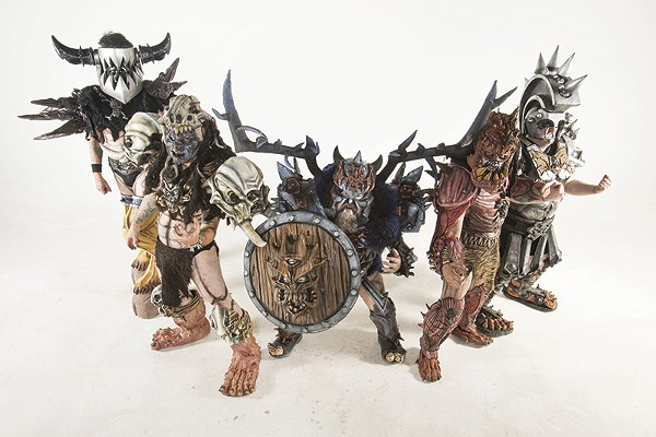 Pustulus Maximus (second from left) with the Scumdogs of Gwar. - COURTESY