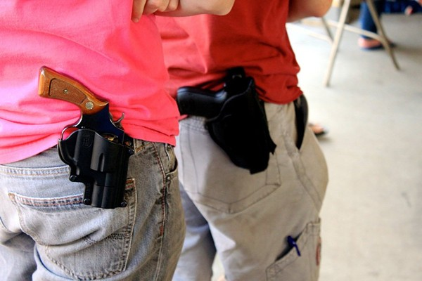 Texas is now an open carry state, but businesses can adopt a non-open carry policy for its customers. - WIKIMEDIA COMMONS