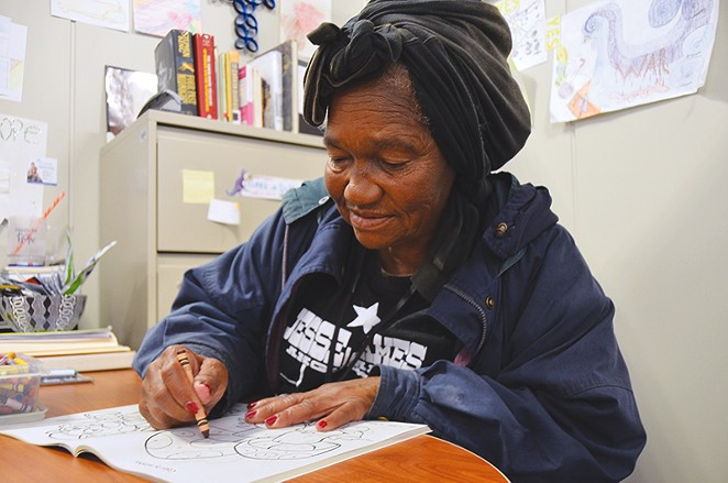 Not much is known about Virgil Dorie. That's not even her real name. She has been at Haven For Hope homeless shelter for five years. - MICHAEL MARKS