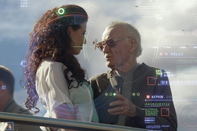 Stan Lee during his cameo in Guardians of the Galaxy. - MARVEL