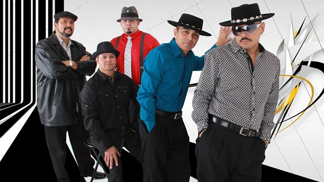 Ray Ray Garcia (right) with his band - COURTESY
