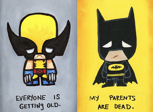 Wolverine and Batman are really feeling their sadness. - J. SALVADOR