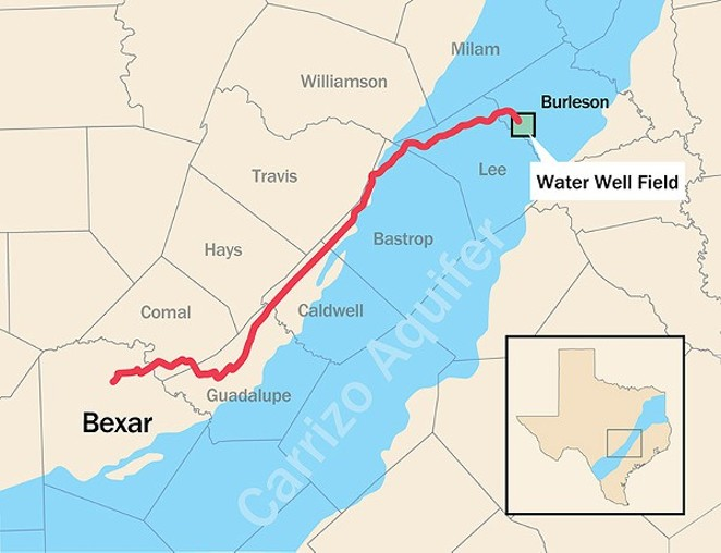 Map of the pending Vista Ridge pipeline. - COURTESY