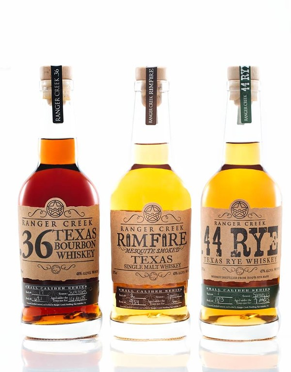 The .36 and Rimfire received Best in Class honors during this weekend's Whiskies of the World Expo in Austin. - COURTESY