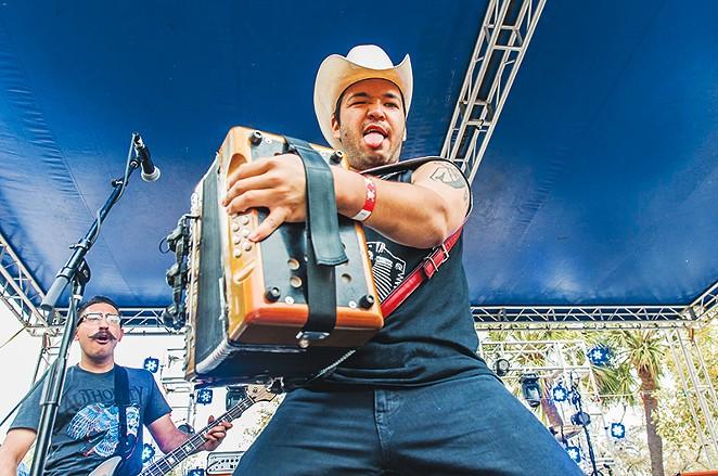 Piñata Protest's Alvaro del Norte, San Antonio Music Awards Winner (Best Accordionist) - FRANCISCO CORTES
