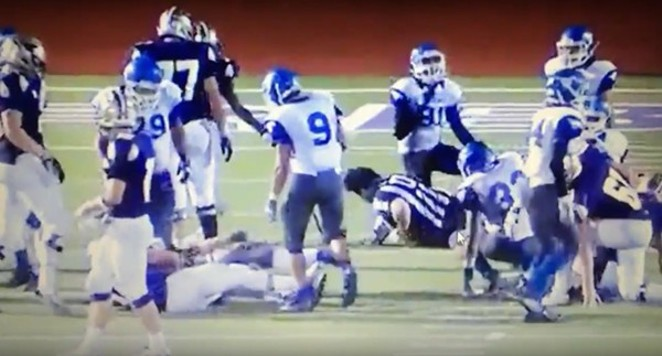 Mack Breed, assistant football coach at John Jay High School, may have admitted to telling his players to hit Robert Watts. - YOUTUBE SCREENSHOT