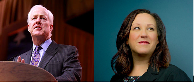 WIKIMEDIA COMMONS / GAGE SKIDMORE (LEFT) AND COURTESY PHOTO / MJ HEGAR CAMPAIGN (RIGHT)