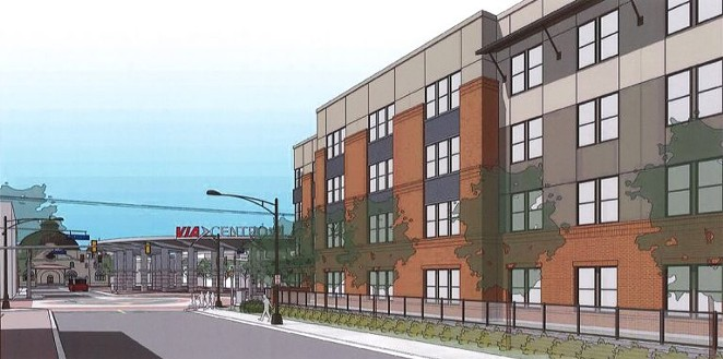 Cattleman Square Lofts is being planned for 811 W. Houston St. - COURTESY IMAGE / ALAMO COMMUNITY GROUP | SAGE GROUP